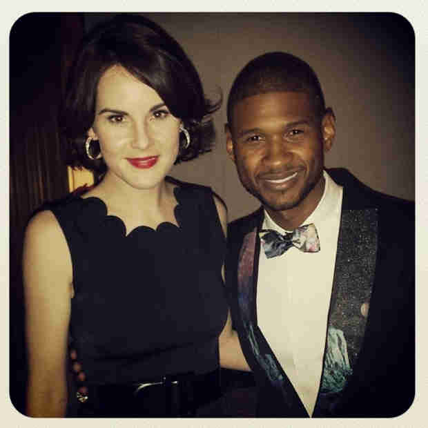 Michelle Dockery Takes America: See Her Golden Globes Selfies! (PHOTOS)
