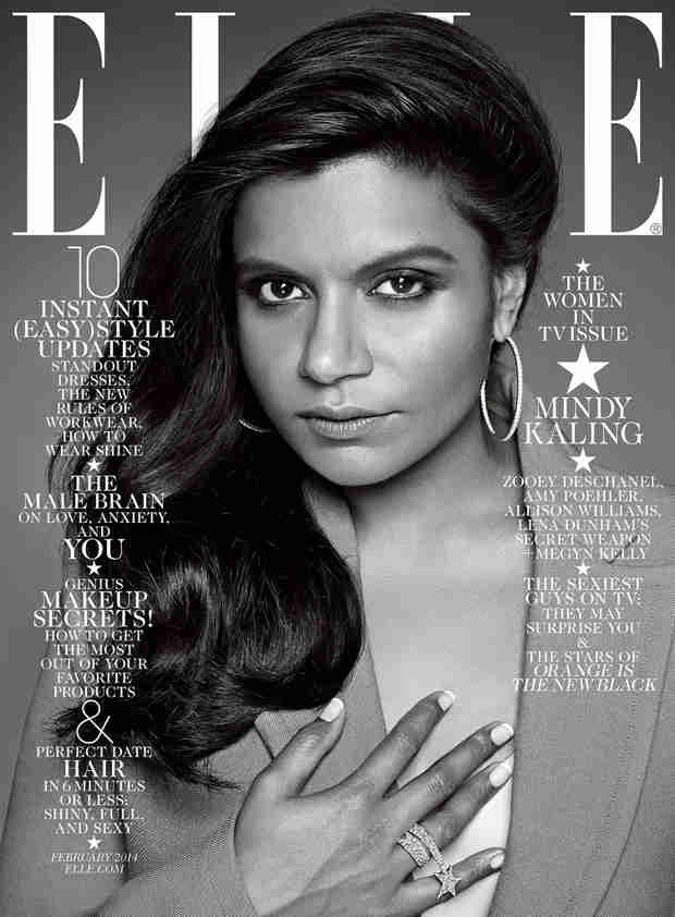 Elle Draws Controversy With Mindy Kaling Cover — Elle and Mindy Both Respond
