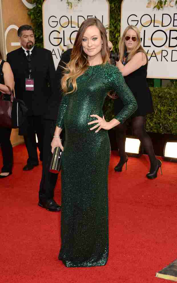 Pregnant Olivia Wilde Reveals Due Date at Golden Globes 2014 (PHOTO)