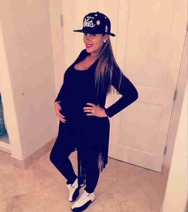 Evelyn Lozada Shows Off Her Growing Baby Belly in Two All-Black Outfits (PHOTOS)