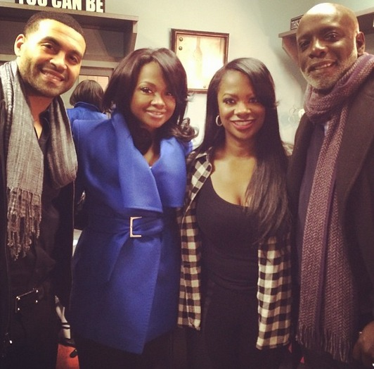 Peter Thomas, Apollo Nida, and Phaedra Parks Go See Kandi Burruss in Newsical the Musical