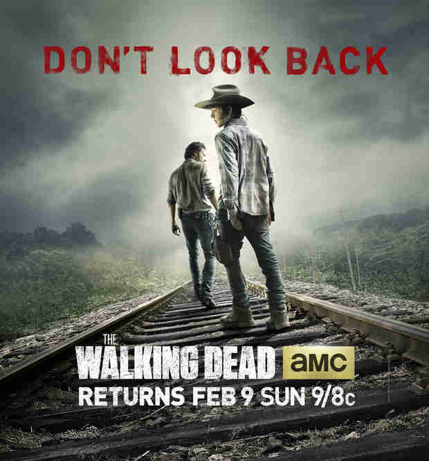 "The Walking Dead Season 4 Second Half Poster: Carl and Rick ""Don't Look Back"""