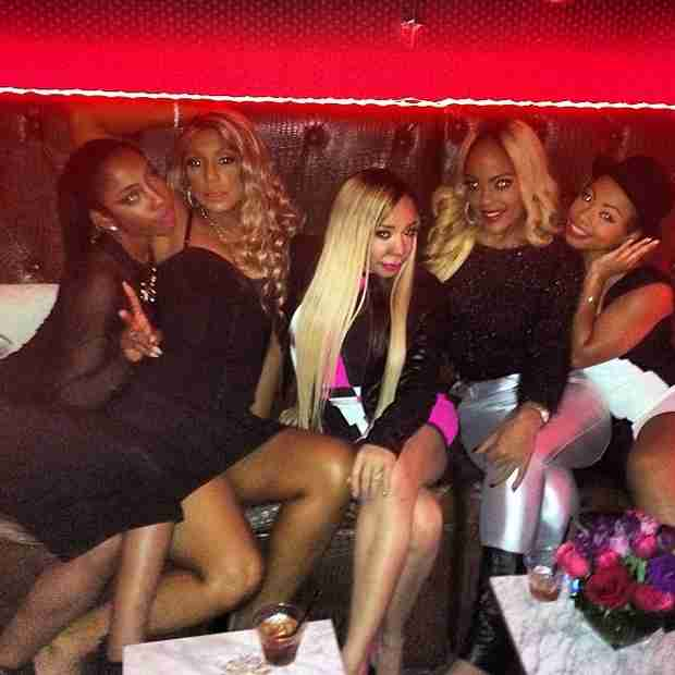 Tamar Braxton Parties Post-Grammys With Tiny Harris and Friends (PHOTOS)