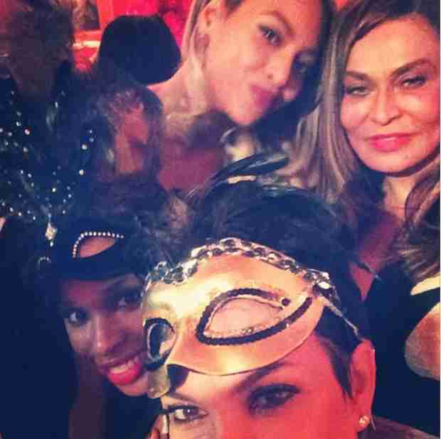 Kris Jenner Cuddles Up to Beyonce and Jennifer Hudson at Tina Knowles' Birthday Bash