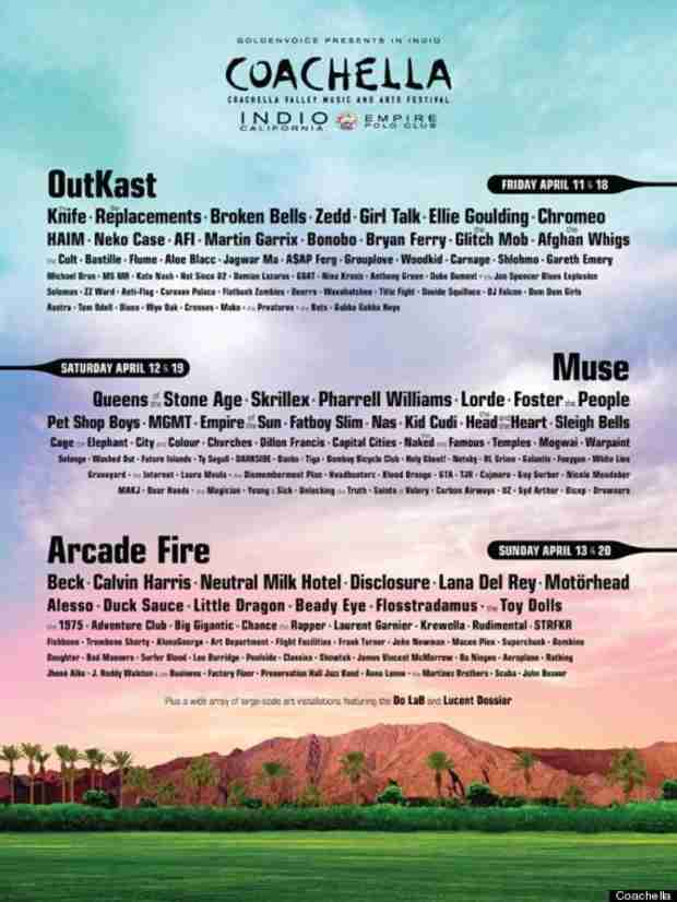 Coachella 2014 Lineup: See the Full List Here!
