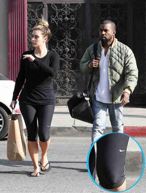 Kim Kardashian Goes to a Meeting With Adidas… While Wearing Nike Leggings
