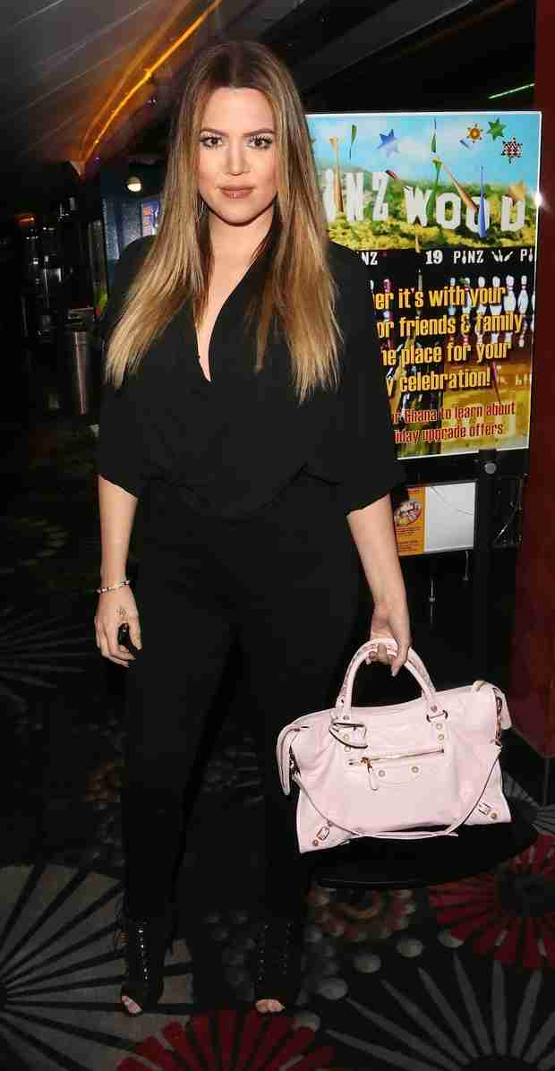 Khloe Kardashian Steps Out For Rapper Game's Robin Hood Project Celebrity Bowling Tournament (PHOTOS)