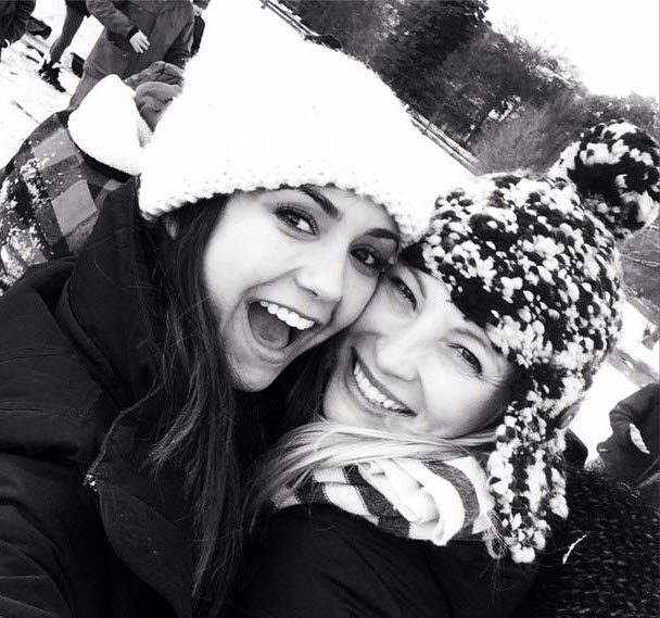Vampire Diaries Stars Nina Dobrev and Candice Accola Enjoy a Snow Day