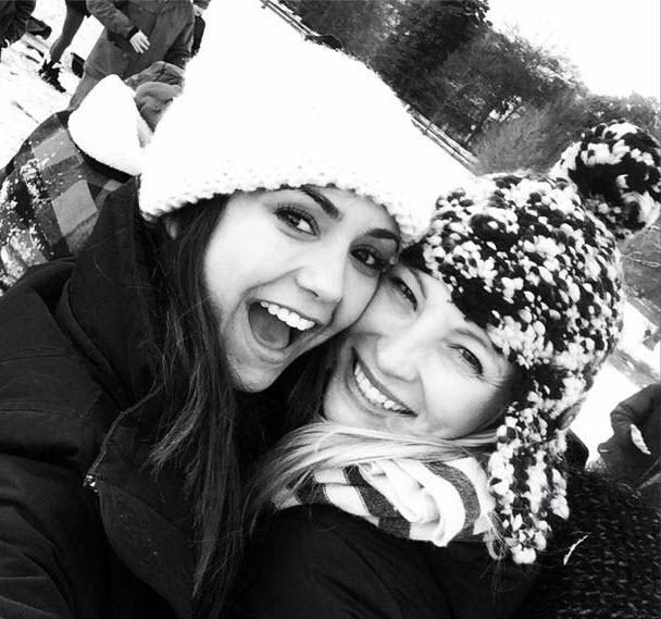 Vampire Diaries Stars Nina Dobrev and Candice Accola Enjoy a Snow Day