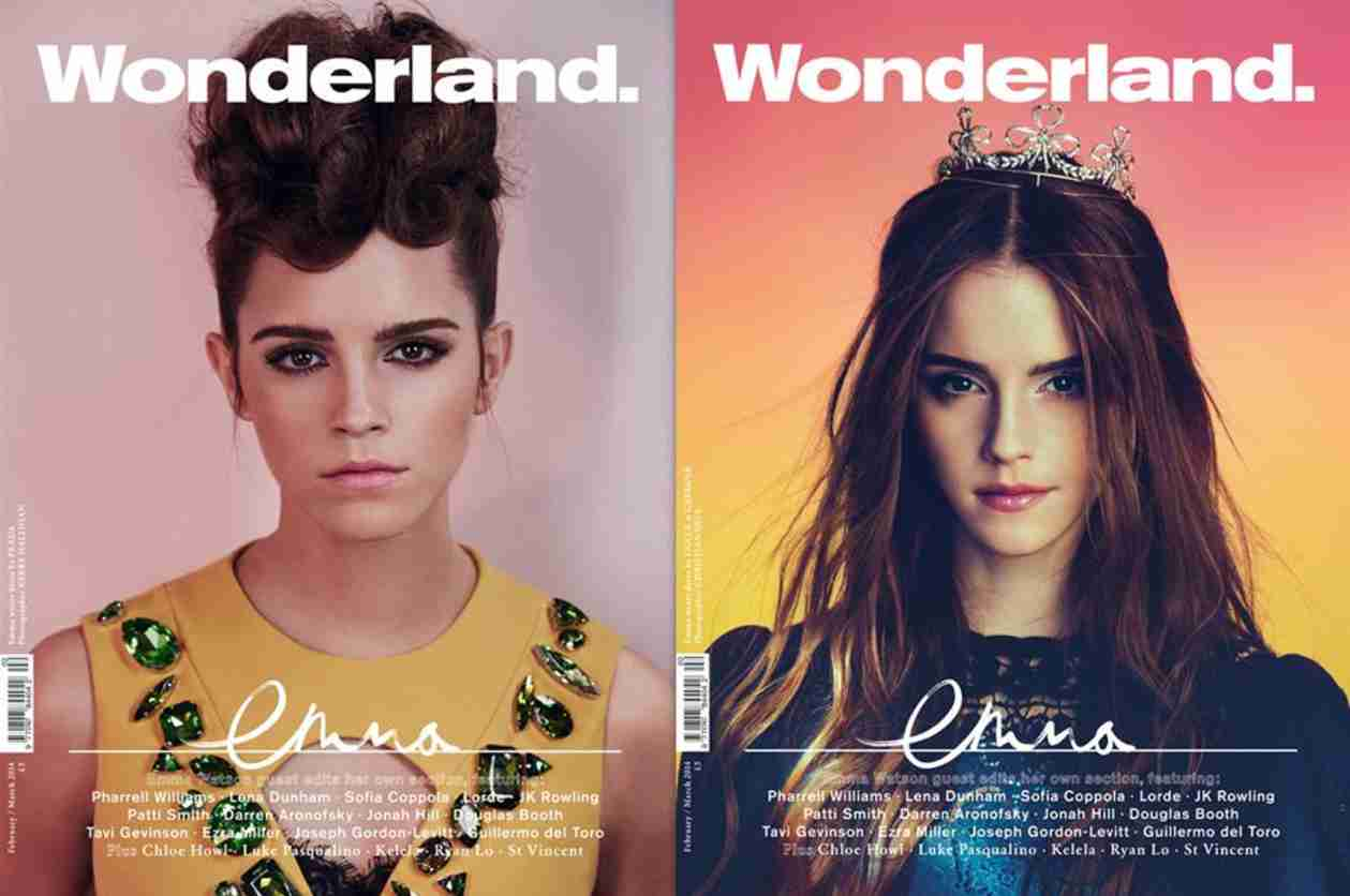 Emma Watson Shows Flawless Beauty on Dual Covers of Wonderland — What Do You Think? (PHOTO)