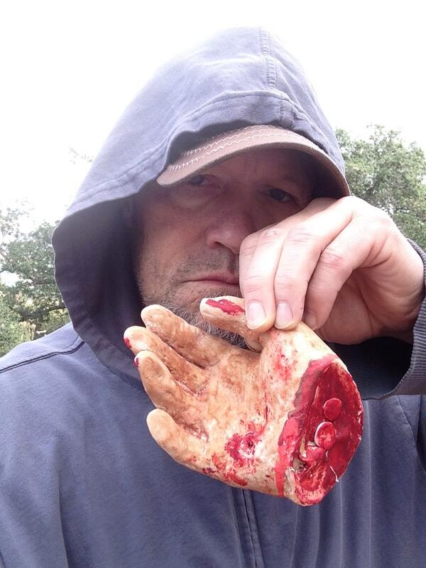 Michael Rooker Shares Photo With Walking Dead Hand (It's Too Late, Merle!)