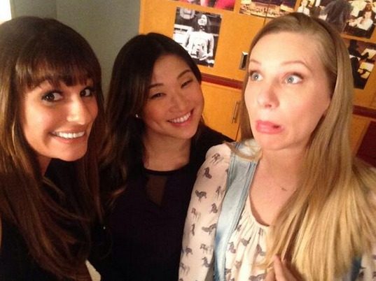Glee 100th Episode: More Unholy Trinity — Brittany's Hair Is So Long! (PHOTO)
