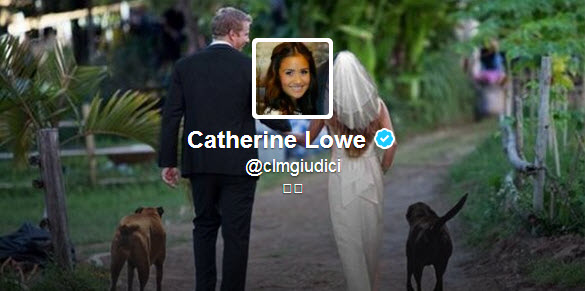 "Catherine Giudici Changes Name on Twitter Profile to ""Catherine Lowe""!"