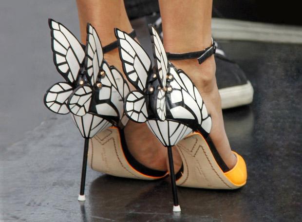 Nina Dobrev Struts Her Stuff in Sexy Butterfly Wing High Heels (PHOTO)