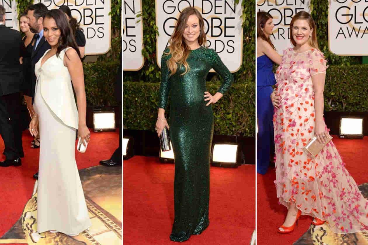 Golden Globes 2014: Which Pregnant Celebrity Had the Best Red Carpet Look?