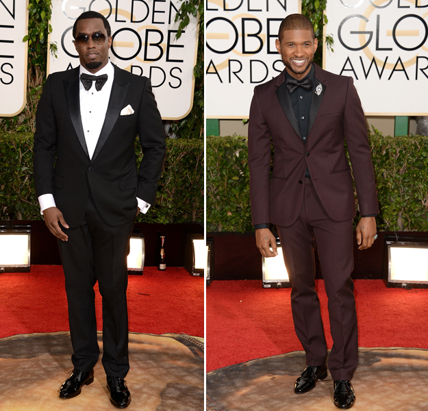 Golden Globes 2014 Presenter Face-Off: Usher vs. Diddy — Who Had Better Red Carpet Style? (PHOTOS)
