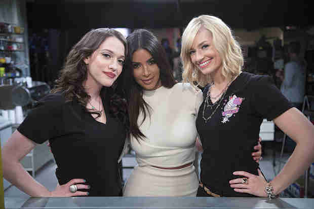 Kim Kardashian Guest Stars on 2 Broke Girls — See Her in Character!  (PHOTO)