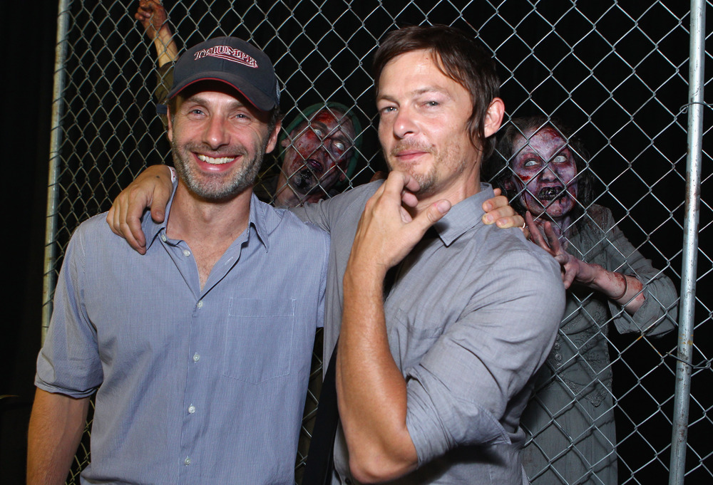 Andrew Lincoln Performs His Own Stunts, But Still Distracted By Norman Reedus' Butt!