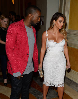Kanye West Wants Kim Kardashian's Wedding Dress on the Cover of Vogue