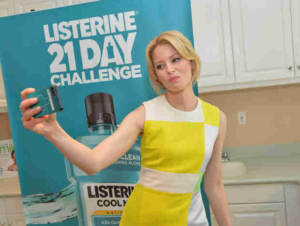 Elizabeth Banks Talks Earning $21K For Oral Health America With One Listerine Swish Selfie! — Exclusive