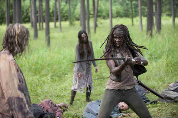 "The Walking Dead Season 4 Episode 9 Recap: Michonne, Carl, Rick — The Mourning ""After"""