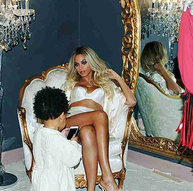 Beyoncé Lounges in Sexy Lingerie While Playing With Blue Ivy — See the Pics! (PHOTOS)