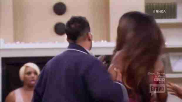 Proof That Christopher Williams Grabbed Kenya Moore During Fight (PHOTO)