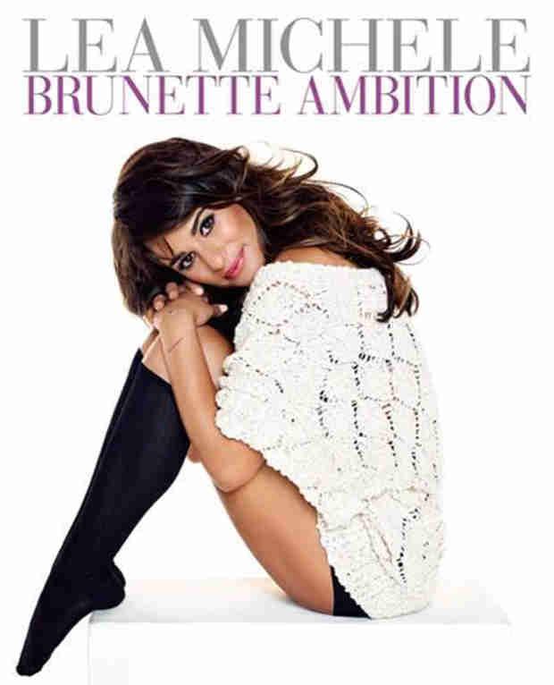 Lea Michele Reveals Brunette Ambition Book Cover (PHOTO)