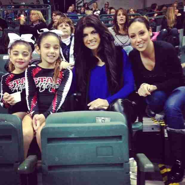 Teresa Giudice and Melissa Gorga Cheer On Their Little Cheerleaders