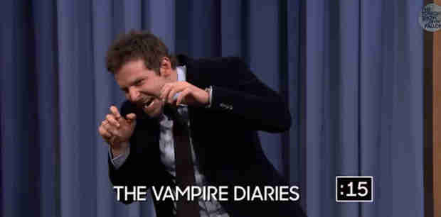 Watch Bradley Cooper Act Out The Vampire Diaries on Jimmy Fallon (VIDEO)