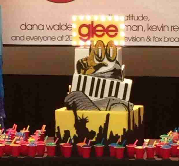 Entire Glee Cast Reunites to Celebrate With Slushies and a Huge Cake (PHOTOS)