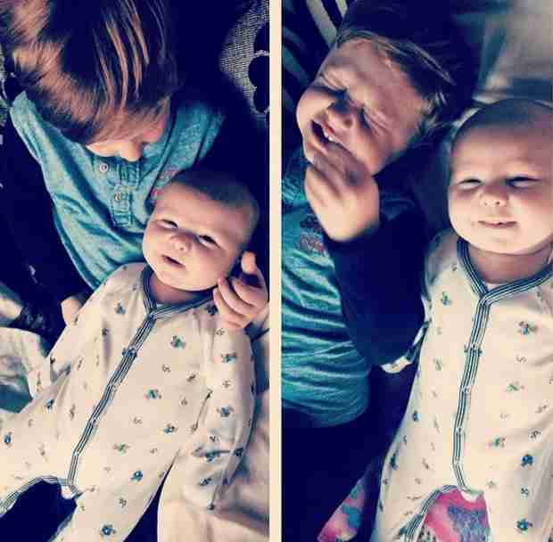 KJ Biermann Cuddles With New Baby Brother Kane — See the Adorable Photo! (PHOTO)