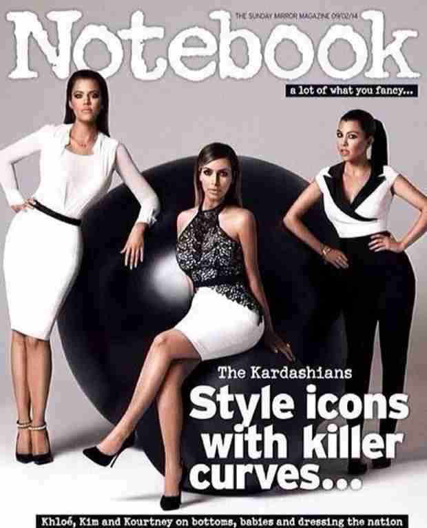 "Kardashians' Cover of Notebook Has Fans Crying ""Photoshop Fail!"""
