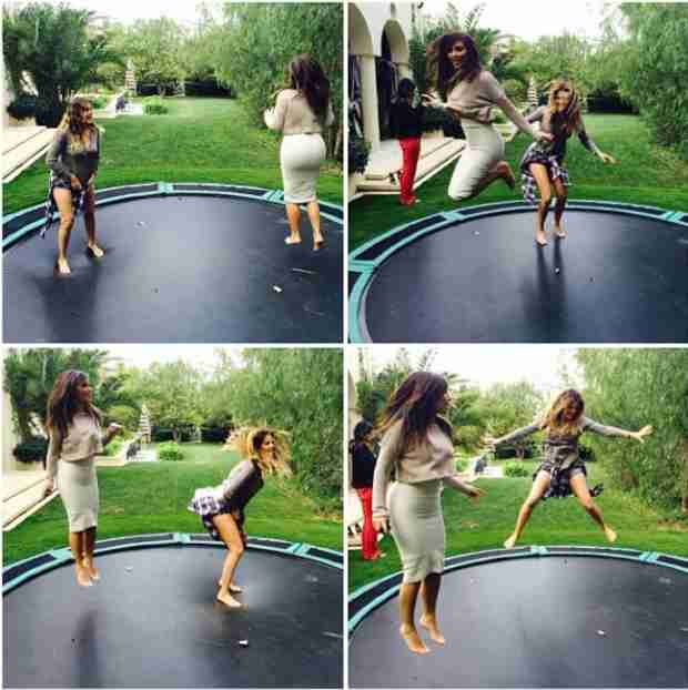 Kim Kardashian Makes No Style Sacrifices During Trampoline Photo Shoot