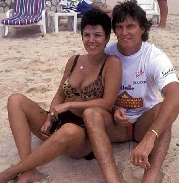Kris Jenner Cuddles With Bruce on Beach in Romantic Throwback Pic (PHOTO)