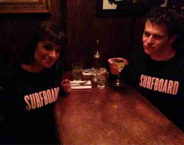 Lea Michele and Jonathan Groff Celebrating Looking's Renewal (PHOTO)