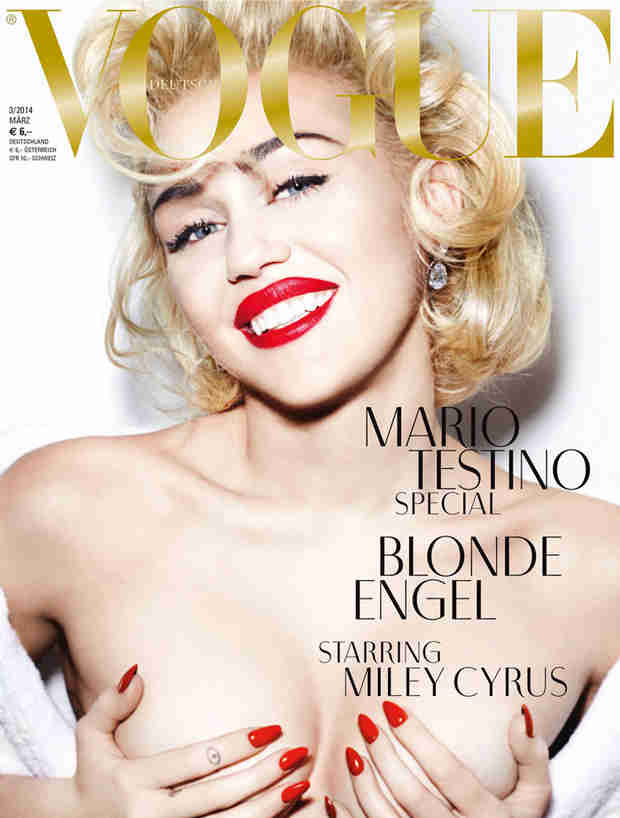 Topless Miley Cyrus Channels Marilyn Monroe for German Vogue (PHOTOS)