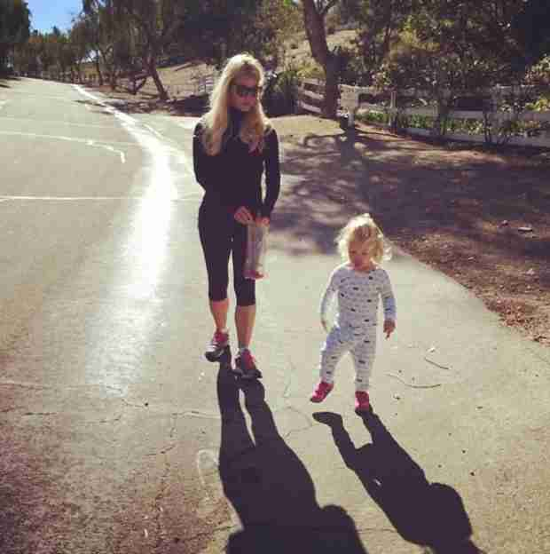 Jessica Simpson Shows Off Her Slimmed Down Body on a Walk With Daughter Maxwell