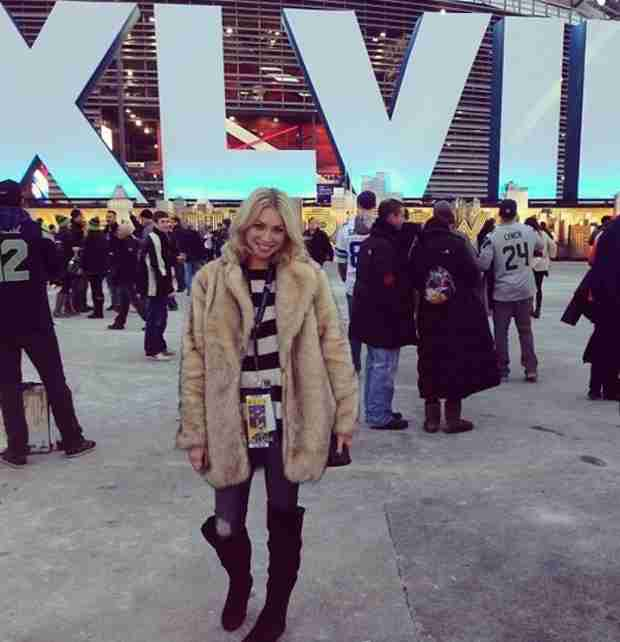 Stassi Schroeder Arrives at the Super Bowl in Faux Fur Jacket (PHOTO)
