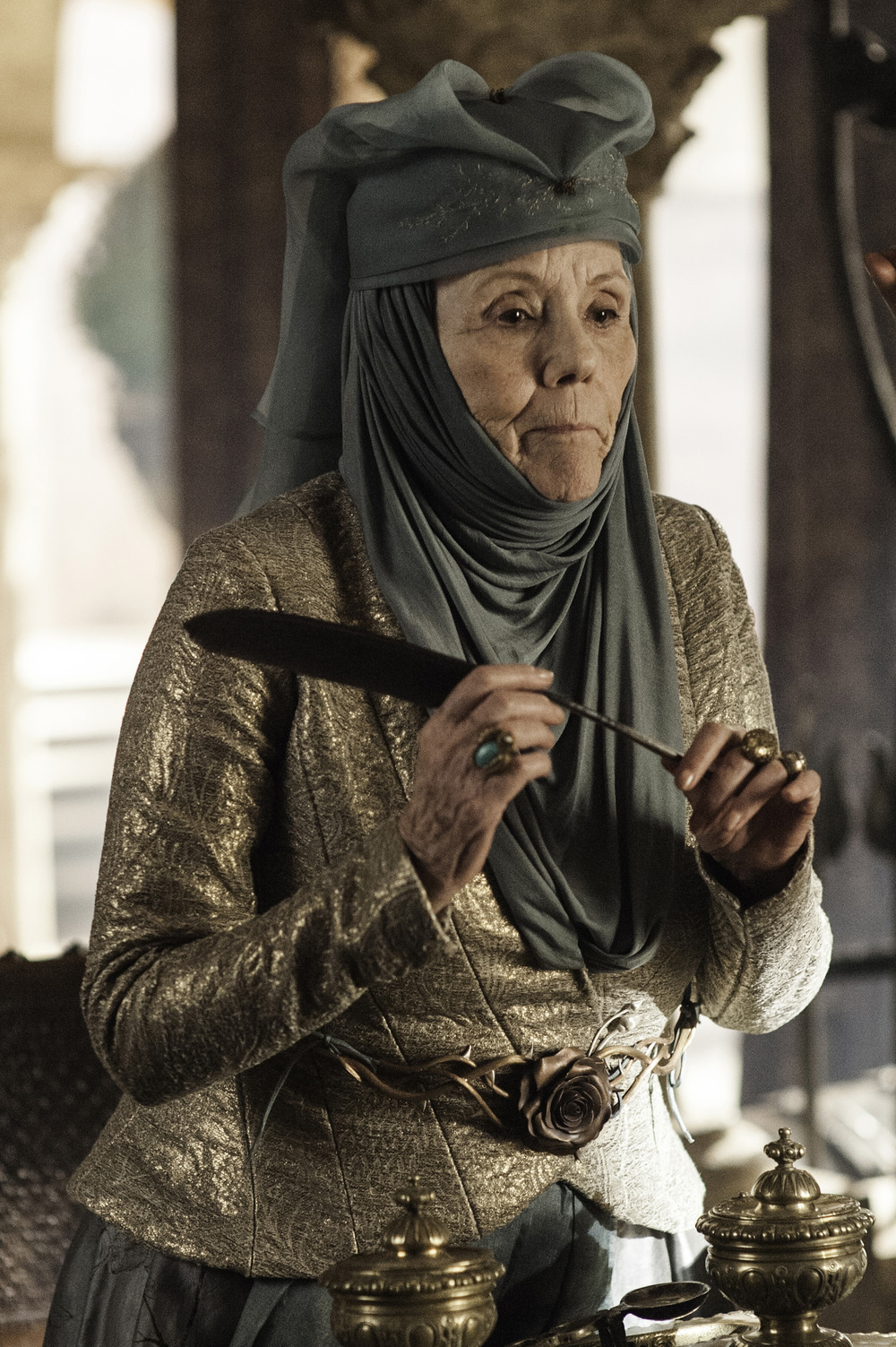 Game of Thrones Season 3 Blu-Ray Promo: Diana Rigg Talks Lady Olenna