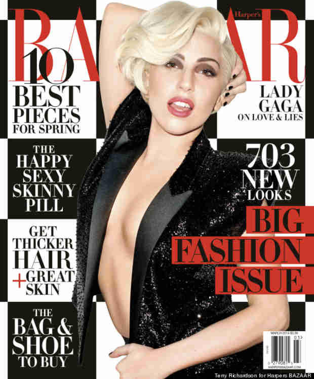 "Lady Gaga Shines on Harper's Bazaar, Says She Was ""Very Depressed"" at End of 2013"