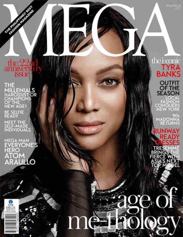 Tyra Banks Stuns, Smizes on the Cover of MEGA Magazine (PHOTO)