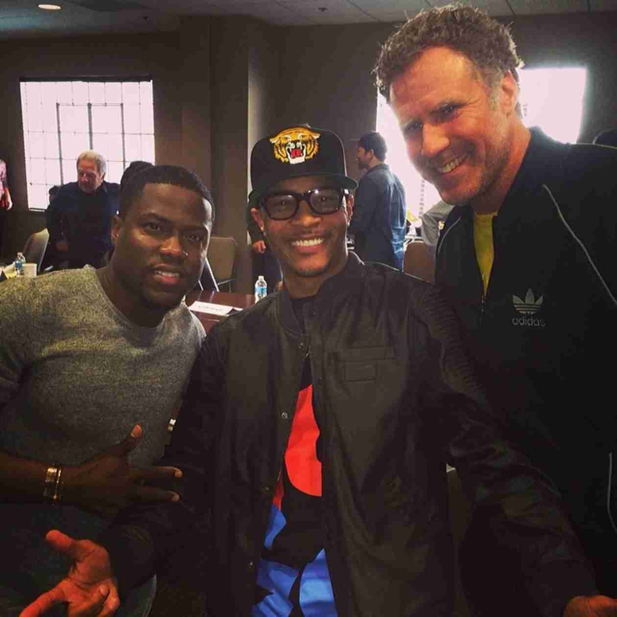 "T.I. Planning Something ""Epic"" With Will Ferrell and Kevin Hart! (PHOTO)"