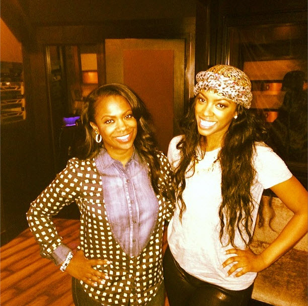 Kandi Burruss and Porsha Stewart Are in the Studio Together — What're They Working On? (PHOTO)