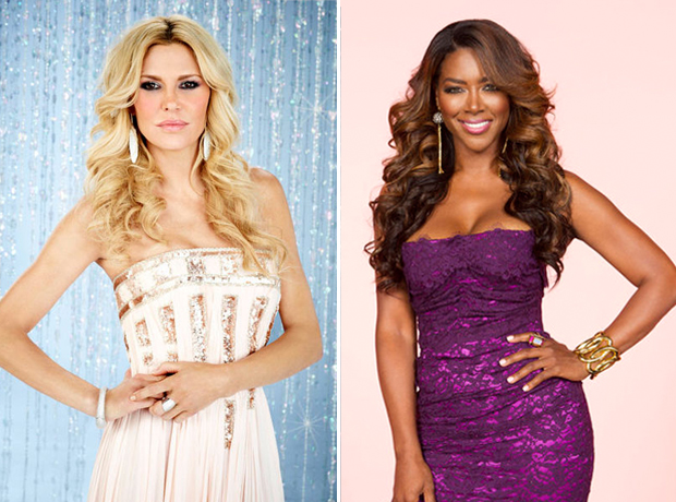 "Kenya Moore Calls RHoBH's Brandi Glanville an ""Ass Clown"""