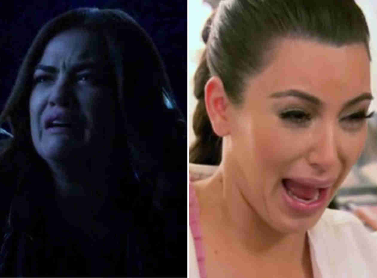 Who Makes a Better Ugly Cry Face: Aria From Pretty Little Liars or Kim Kardashian?