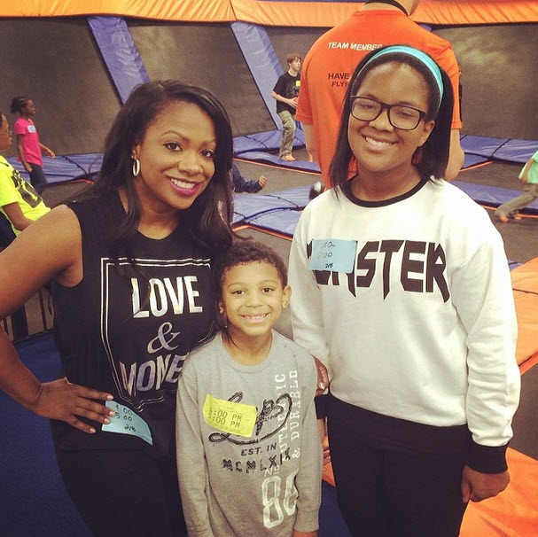 Kandi Burruss Plays With the Kids at Godson's Birthday — Is She Ready for a New Baby? (PHOTOS)