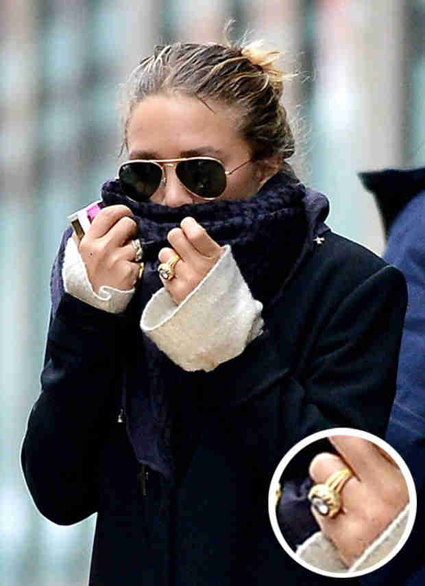 Mary-Kate Olsen Spotted Wearing Diamond Ring Amidst Engagement Rumors