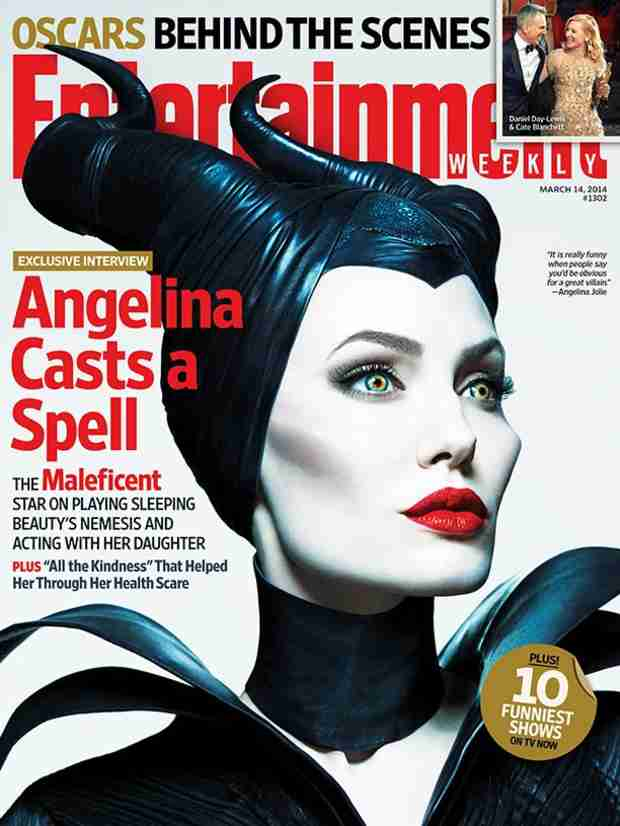 "Angelina Jolie on Playing Maleficent: ""My Kids Were Scared Of Me!"""