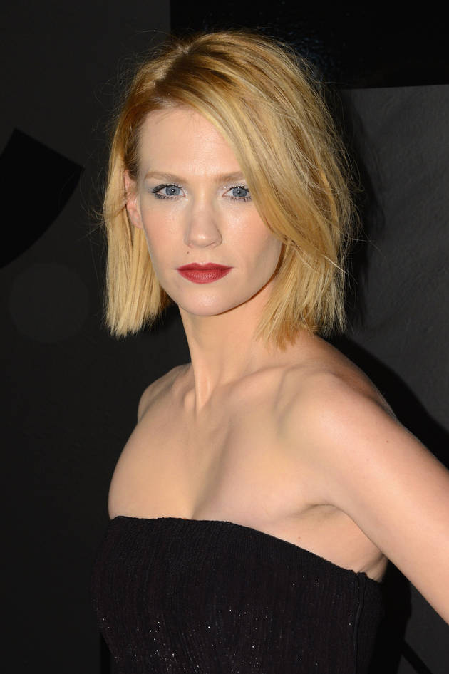 January Jones Poses Nude, Wants to Have Sex With Rihanna (or Paul Newman)